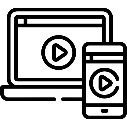 Computer and phone line icon
